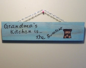 Grandma's Kitchen Handcrafted Sign