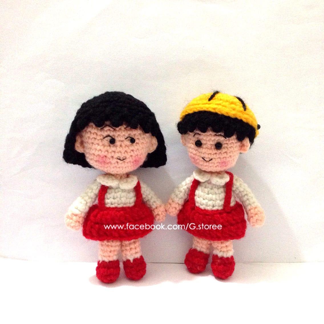 Chibi Maruko Chan Amigurumi Pattern Crochet Doll Pattern