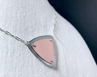 Recycled Tin Shield Necklace