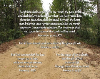 graphic about Romans Road Kjv Printable named Romans 6 23 Etsy
