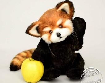 Red Panda Plush Etsy