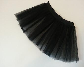 Black Tutu Skirt For Dance Party Ruffled Tulle Skirt adult