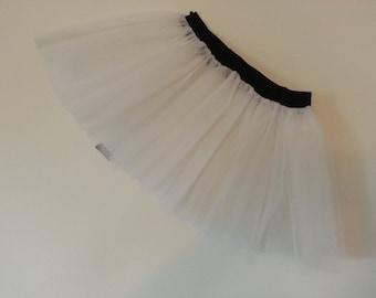 White Tutu Skirt For Dance Party Ruffled Tulle Skirt adult
