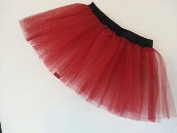 bebb5258b72 Plus Size Red UV Tutu Skirt For Dance Party Ruffled Tulle