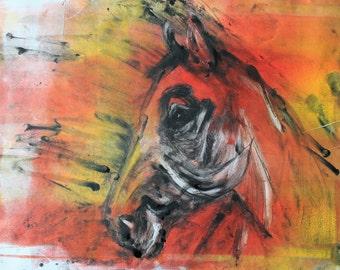 Drypoint Horse Print