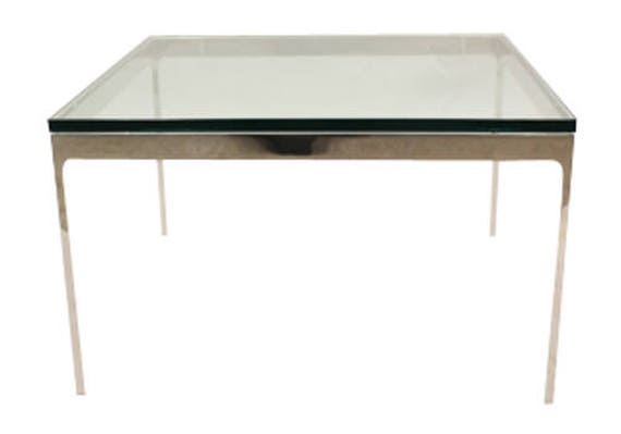 Zographos Glass Top Square Side Table Etsy