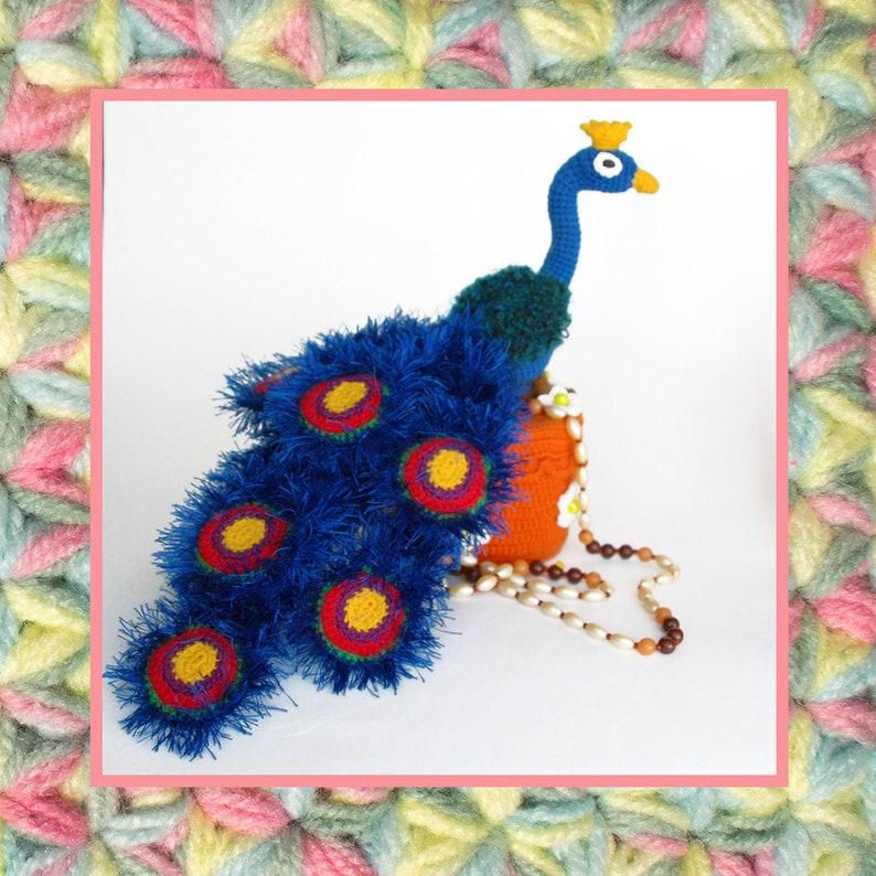 041 Amigurumi Bird Pattern Royal Peacock Crochet Pattern Etsy