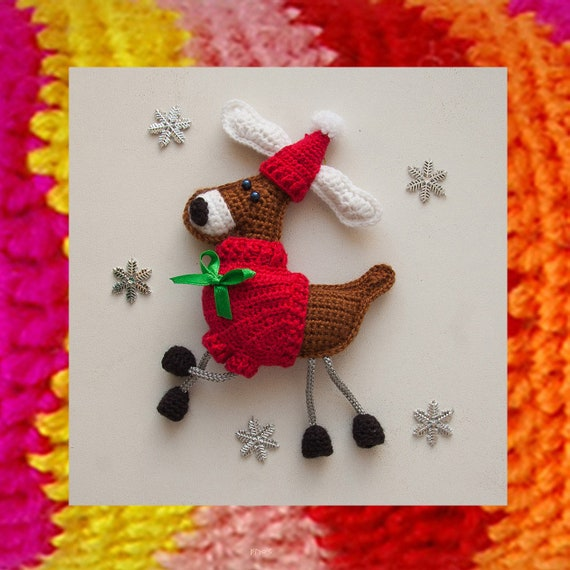 015 Crochet Reindeer Pattern Christmas Ornament And Souvenir Etsy