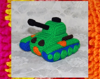Amigurumi Pattern. Little Toy Panzer Tank. Crochet Tank pattern. Amigurumi machine. Toys for boys. Knitted car pattern. Father's Day gift