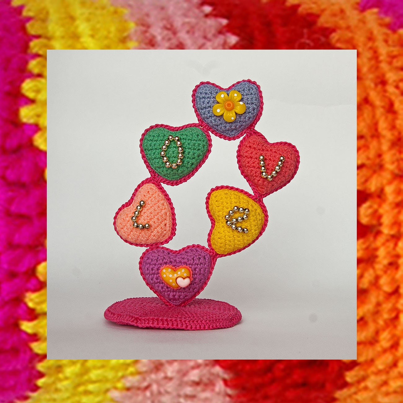 047 Crochet Heart Pattern Amigurumi Heart Tree Amigurumi Etsy