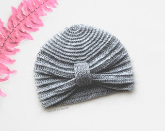 Baby Knit Turban Hat, by NOTON by Raquel for KIDS