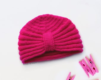 Baby Winter Turban Hat, by NOTON by Raquel for KIDS
