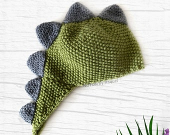 Green Dinosaur Baby Winter Hat, by NOTON by Raquel for KIDS