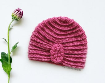 Braid Baby Turban Hat, by NOTON by Raquel for KIDS