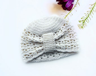 Baby Lace Turban Hat, by NOTON by Raquel for KIDS