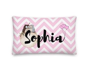 Sophia Rectangular Throw Pillow 20x12, Baby Name Pillow, Personalized Pillow