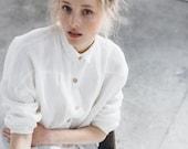 Washed linen shirt/ Linen shirt/ Drop shoulder shirt/ Oversized linen clothes/ Lyn shirt