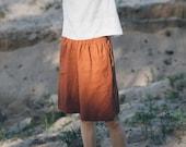 Linen shorts/ High waisted linen shorts / Summer shorts/ Minimal linen shorts