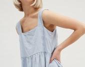 Ready to ship/ Linen dress/ Summer linen dress/ Midi dress/ Loose linen dress / Simple linen dress/ Pinafore dress