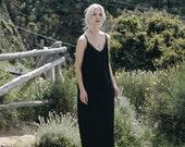 Linen dress / Long dress with straps/ Summer dress/ Washed linen clothes/ Soft linen dress/ Minimal linen dress