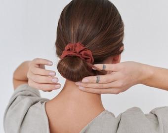 Linen scrunchie - Linen hair tie - Natural linen scrunchies