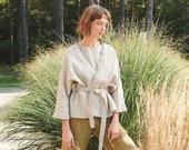 Rene jacket - Heavy linen jacket - Linen coat - Washed linen coat - Linen cardigan