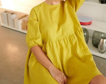 Ready to ship - Beth linen dress - Linen dress - Summer linen dress - Short Linen dress