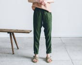 Tapered linen pants/ Linen trousers/ Classic linen pants/ Maternity pants/ Washed linen pants/ Soft linen pants/ Loose pants