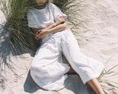 Culottes/ Linen Culottes/ Wide linen pants/ Linen pants/ Soft linen pants/ Summer pants