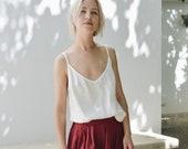 Hazel top / Linen top / Linen blouse / Linen basic top / Top / Linen shirt / Summer linen clothes / Simple linen blouse