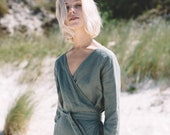 Rosemary dress / Wrap dress / Linen dress / Summer dress / Loose linen dress / Soft linen dress