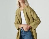 Linen jacket / Linen coat / Oversized linen jacket / Linen cardigan / Minimal linen jacket