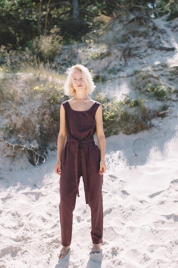23124d4592e Linen jumpsuit   Loose linen Jumpsuit   Linen overall   Linen