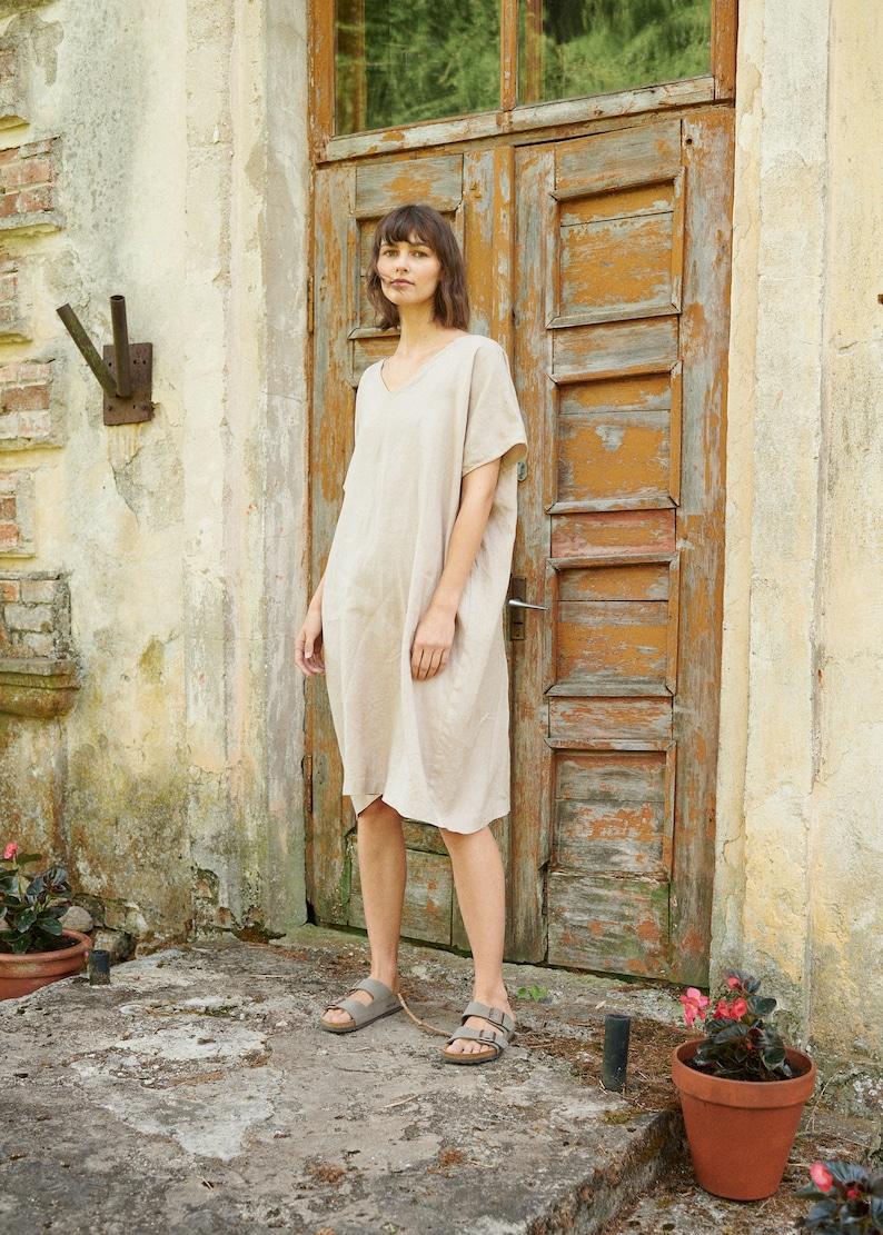 Amalfi dress  One size dress  Oversized linen dress  Linen