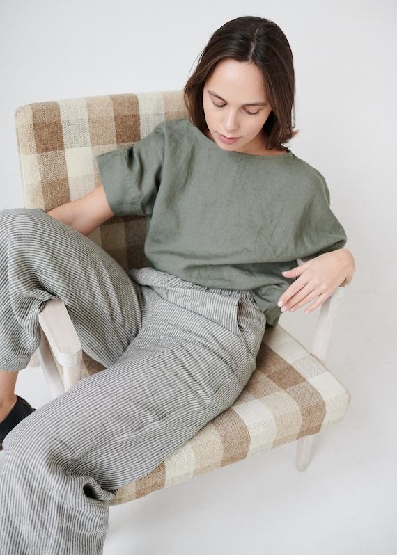 Linen culottes Loose linen pants Ocean trousers Linen pants Linen trousers