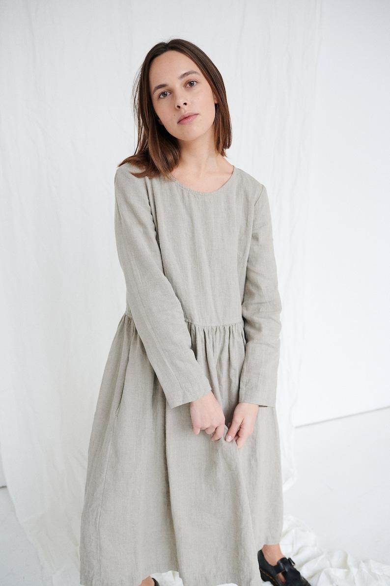 Alice dress  Long linen dress  Maxi linen dress  Soft linen image 0