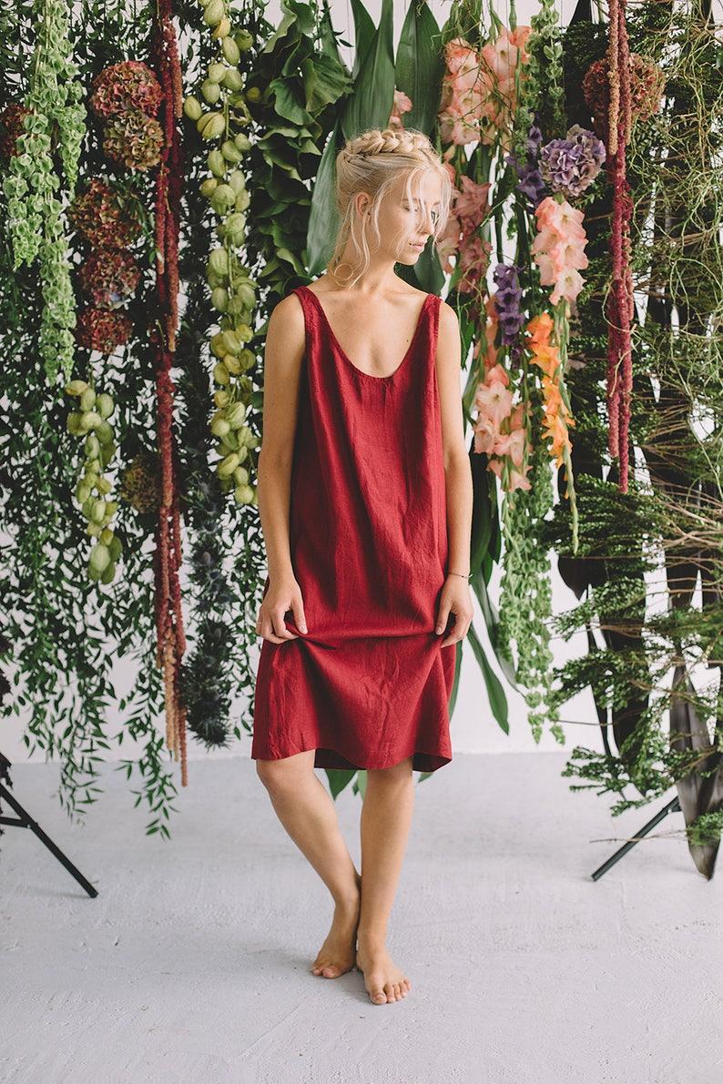 Monstera / Linen dress / Summer dress / Simple linen dress / image 0