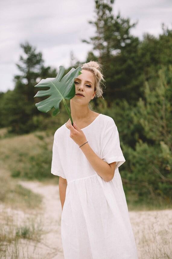 d4b399751d Ready to ship  Linen dress  Maxi dress  Summer dress  Milky