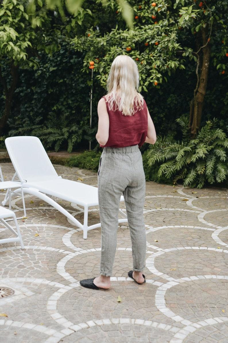 Nova trousers / Tapered linen pants / Classic linen pants / image 0