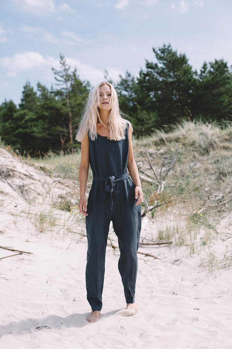 Evelyn jumpsuit / Linen jumpsuit / Loose linen Jumpsuit / image 3