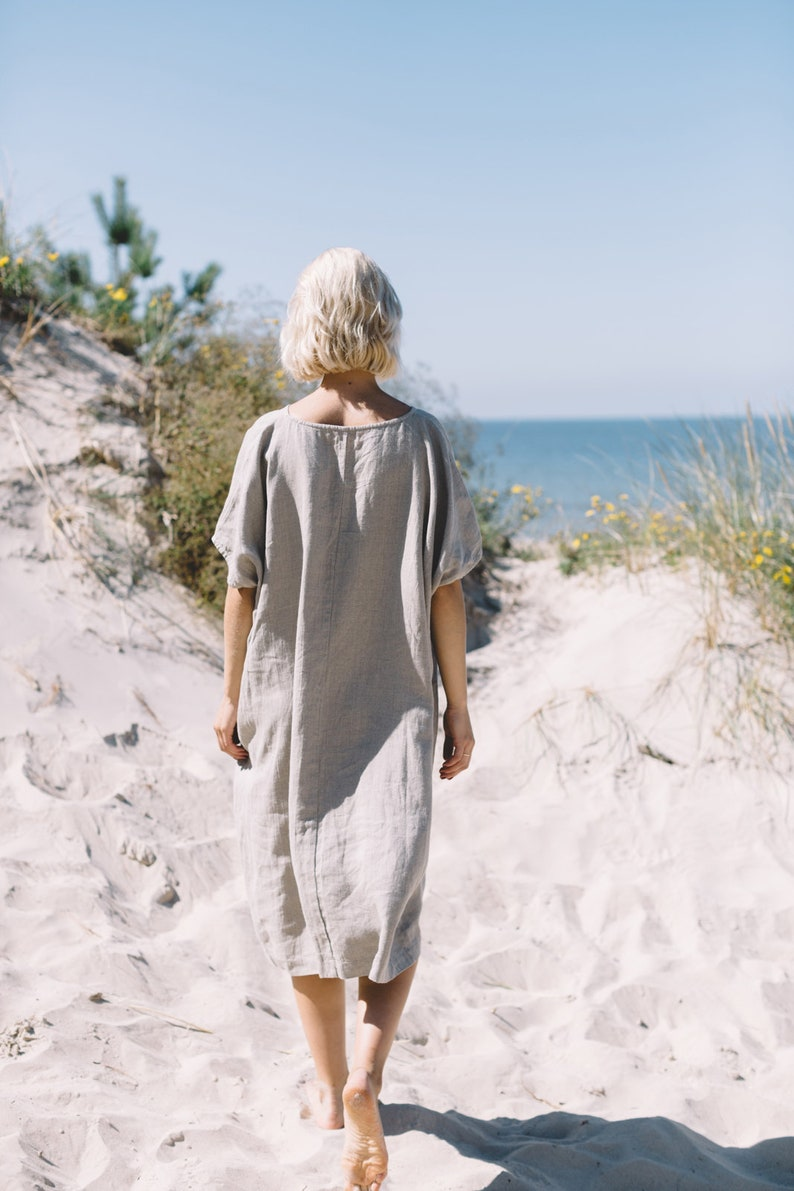 Amalfi dress / One size dress / Oversized linen dress / Linen image 4
