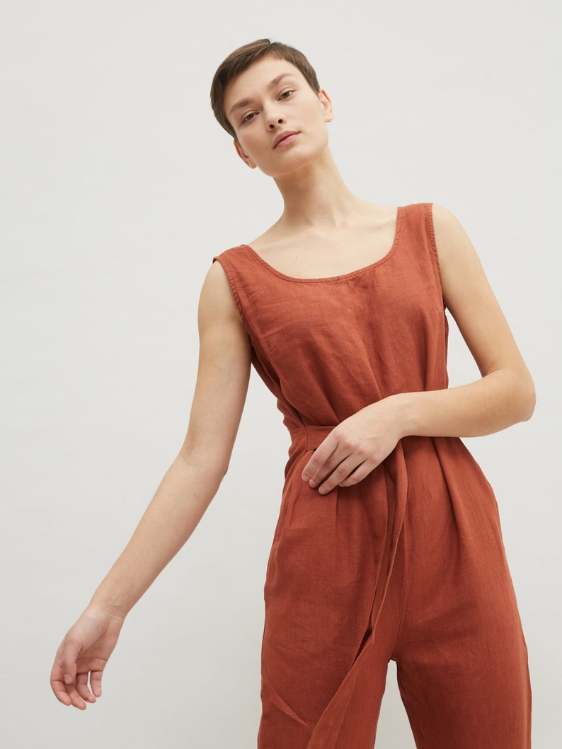 Evelyn jumpsuit / Linen jumpsuit / Loose linen Jumpsuit / image 0