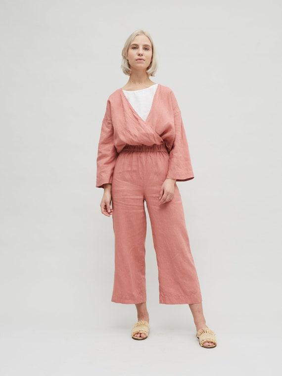 70ddf80c9ce9 Linen jumpsuit   Loose linen Jumpsuit   Linen overall   Linen