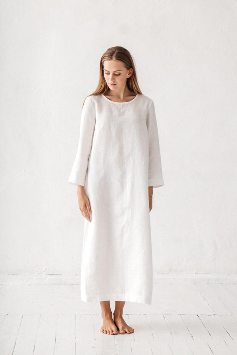 c7cd76e38a Linen dress Long linen dress Linen tunic Minimal linen