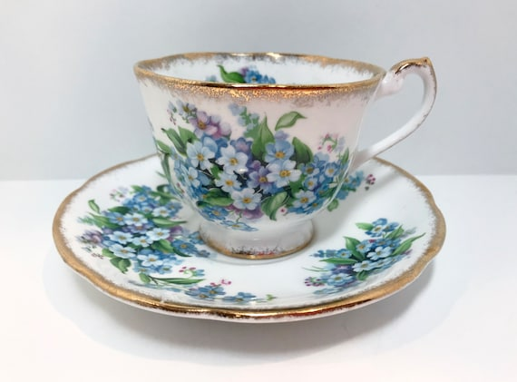 Royal Standard Teacup, Forget Me Not Pattern, Floral Teacups, Bone China Cup, Antique Tea Cups Vintage , English China, Antique Teacup