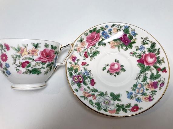 Crown Staffordshire Teacup and Saucer, English Teacups, Antique Tea Cups Vintage, English Bone China Teacups, Teatime Teacups