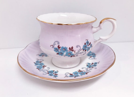 Crown Staffordshire Teacup, Lilac Tea Cup, Teatime Tea Cups, Vintage Teacups, Gift for Her, Friendship Cup
