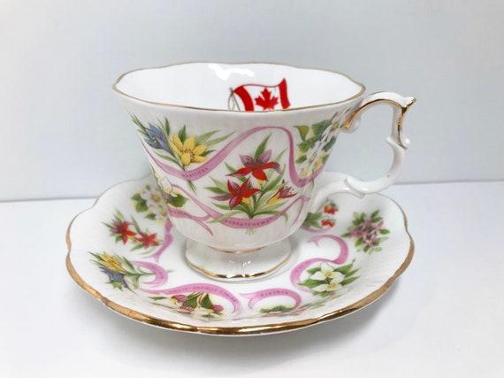 Royal Albert Teacup and Saucer, Our Emblems Dear, Canada Series, Vintage Teacups Antique, Tea Cups Vintage, Friendship Cup