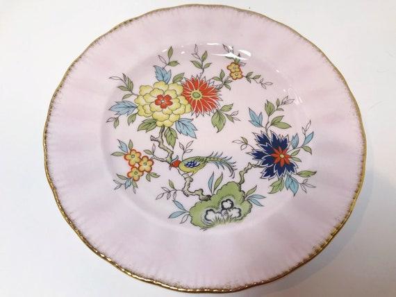 Pink Paragon Plate, Oriental Series, Sung Pattern, Paragon Sung, Antique Teacups Vintage, Antique Tea Cups Vintage, Paragon Trio