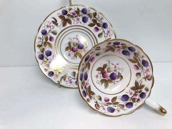Royal Stafford Teacup, Golden Bramble Pattern, Tea Cups Vintage, Vintage Tea Cups, Floral Teacups, Teatime Teacups, Hand Painted Teacups